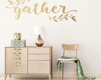 Gather Wall Decor - Gather Wall Decal - Thanksgiving Wall Decal - WB103