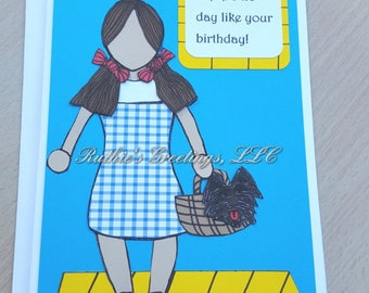 Wizard of Oz Party- Dorothy - Birthday Greeting Card