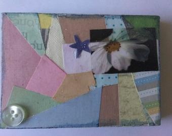 Mini collage on canvas
