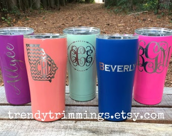 20 oz SIC™ Tumbler- Laser Engraved/Etched Powder Coated Stainless Steel- monogram, name, logo, custom cup- like YETI, RTIC, Ozark Trail