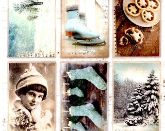 53 - 1 sheet of die cut vintage Christmas images