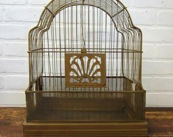 Vintage Gold Wire Bird Cage Shabby Decor