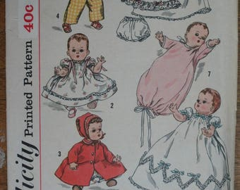 Vintage Sewing Pattern Doll Clothes Simplicity 1844, Betsy Wetsy, Tiny Tears
