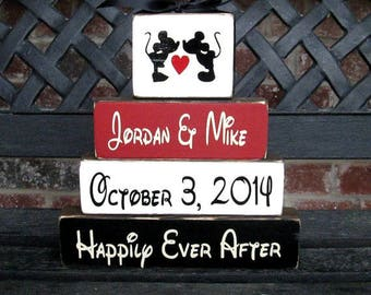Personalized wedding blocks