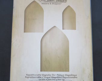 Tim Holtz Arches - Sizzix Movers & Shapers Magnetic Dies By Tim Holtz 3/Pkg 658565
