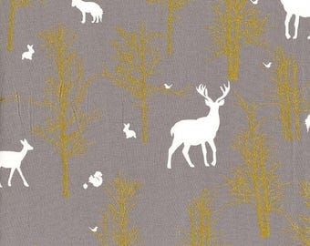 SALE 10% Off - Timber Valley in Fog  MD6462 - BRAMBLEBERRY Ridge by Violet Craft  - Michael Miller Fabrics - By the Yard
