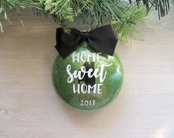 Home Ornament - First Home Ornament - First Home Gift - Home Sweet Home Ornament - Real Estate Gift - Housewarming Gift - New Home Gift