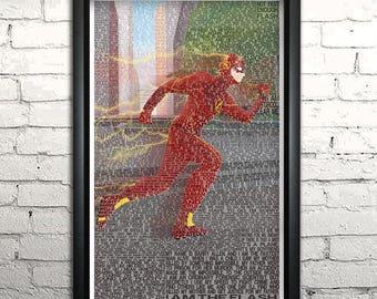 "Flash word art print -11x17"" Framed"