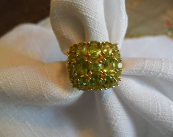 Vintage Peridot 10K Gold over Sterling Silver Size 7 Ring