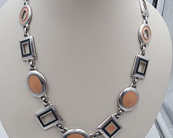 Kunio Matusumoto for Trifari enamel necklace