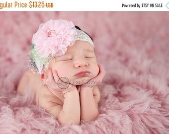12% off Baby headband, newborn headband, adult headband, child headband and photography prop The single sprinkled- Maggie lace  headband
