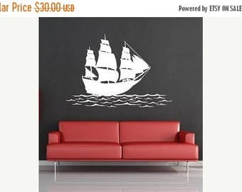20% OFF Ship on the water-Vinyl Lettering  decal wall words graphics Home decor itswritteninvinyl
