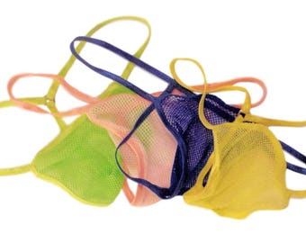 Men's G String Thong Super Stretchy Fish Net MICRO Fine Y Back  Air Light Breezy Exotic Lingerie Man Itnimates