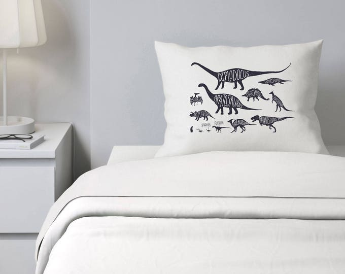 Dinosaur Pillowcase, boys Bedding, Personalized Pillowcase, ADD NAME for FREE