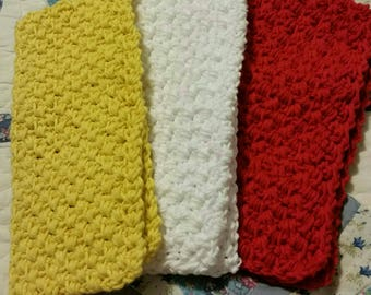 RTS-Set of 3 Farmhouse Style Scrubber Dishcloths for your kitchen Scrubbing Household Cleaning Dish Cloths Dishes Gift Housewarming Reusable
