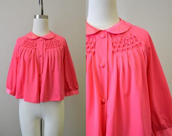 1960s Seamprufe Hot Pink Bed Jacket