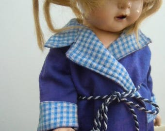 Ana McGuffey Blue Bath Robe Doll Accessory