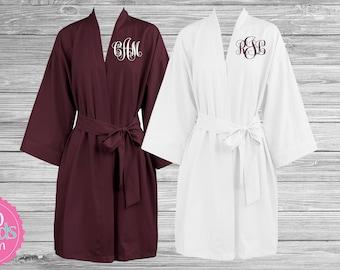 Set of Bridesmaid Robes, Summer Bridesmaid Robes, Lightweight Cotton Bridesmaid Robes, Soft Breathable RObes, Bridesmaid Gifts, Bride Robe