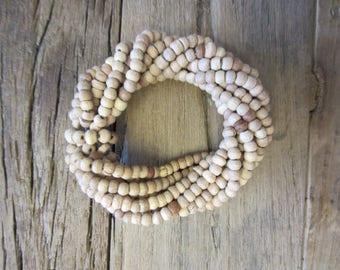 Wooden Beaded Napkin Rings (Per 1/each)