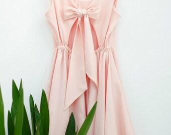 Blush pink dress pink dress backless dress pink party dress pink prom dress pink cocktail dress pink bridesmaid dresses