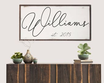 Established Last Name Wood SIgn, Family Name Sign, Last Name Sign, Farmhouse Name Sign, Christmas Gift Wood Sign, Farmhouse Entryway