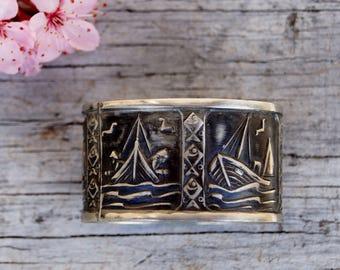 Mod Mid Century Danish Mod Silver Napkin Rings