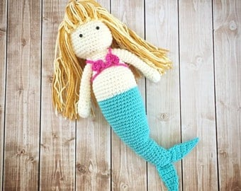 Little Miss Mermaid Doll Plush Toy/ Photography Prop/ Stuffed Toy / Soft Toy/Amigurumi Toy- MADE TO ORDER