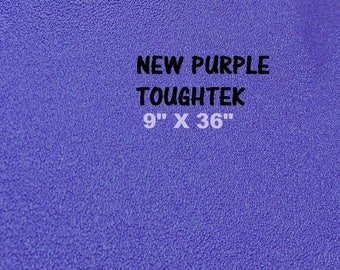 Purple  Rubber Fabric, Shoe Sole Material, Waterproof Rubber Fabric,  Neoprene Fabric, ToughTek Fabric, Non Slip Fabric, 9 X 36 Sheet