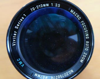 Vivitar Series 1 70-210mm f3.5 Zoom Lens in Canon FD Manual Focus Mount.