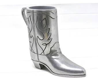 Vintage Wilton Armetale Pewter RWP Cowboy Boot~Noggin Beer Stein~Mug