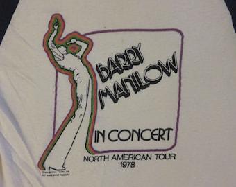 Vintage BARRY MANILOW 1978 tour T SHIRT original concert tee jersey