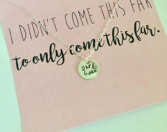 Girl Boss Necklace | Lady Boss Jewelry | Gift for Boss | Hustle Jewelry | Boss Babe | Minimalist Jewelry | Inspirational Jewelry | Boss