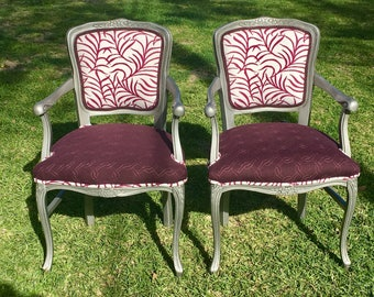 Set of 2 French Chic Style Side Chairs