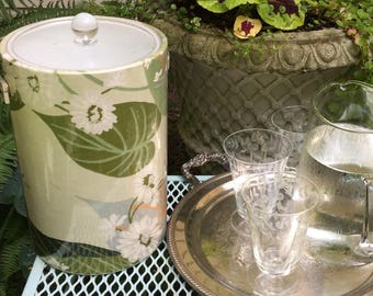 Swanky Ice Bucket with Leaves