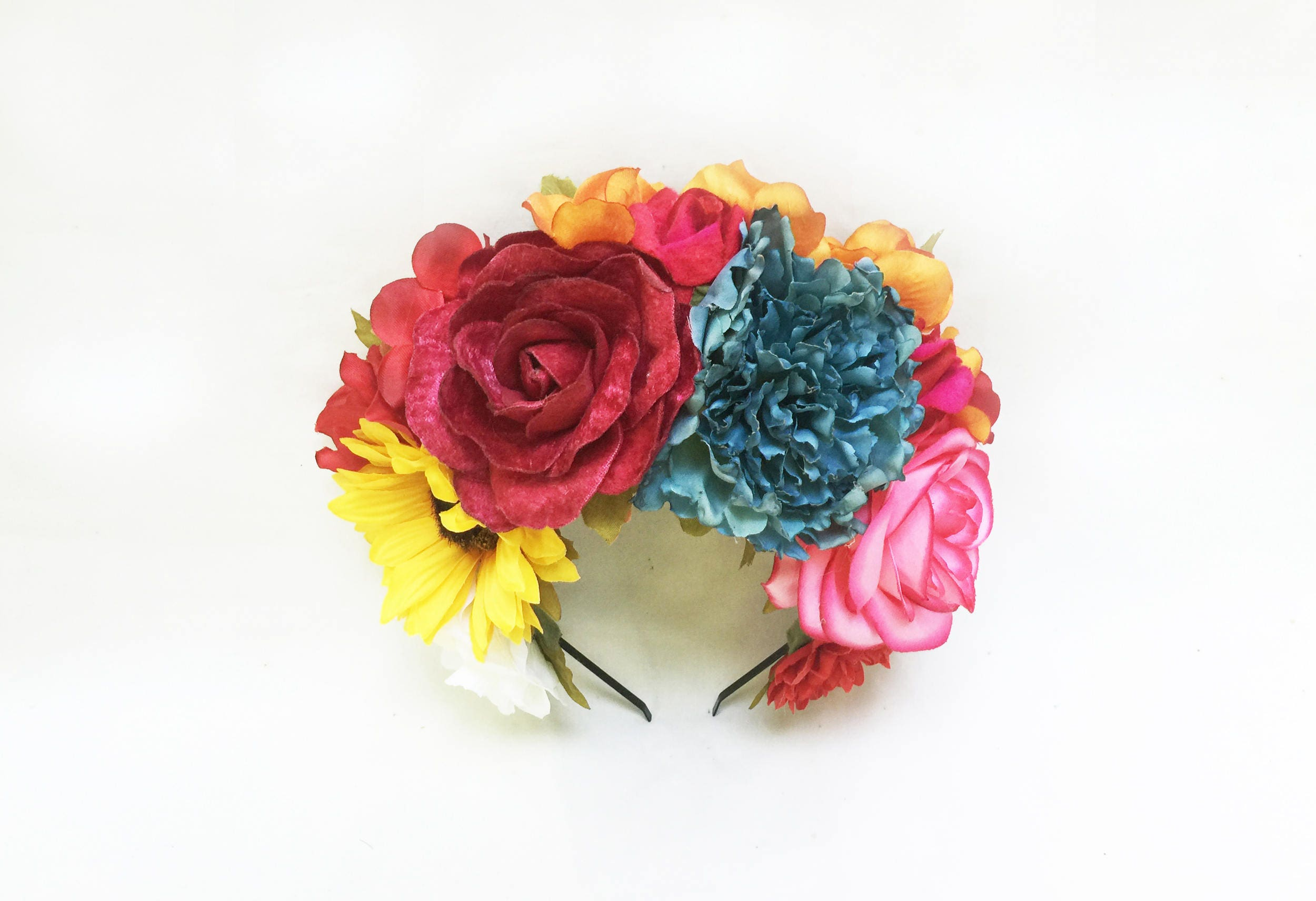 Day of the Dead Flower Crown, Headpiece, Frida Kahlo, Mexican Flower ...