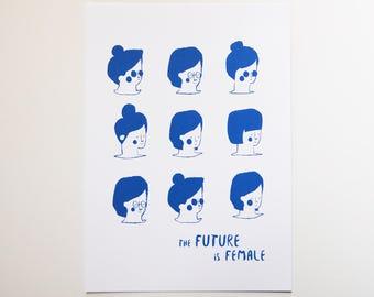 The Future is Female 5 x 7 Card Print