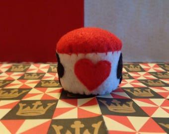 Handmade Deck of Cards Felt Pin Cushion by Pepperland