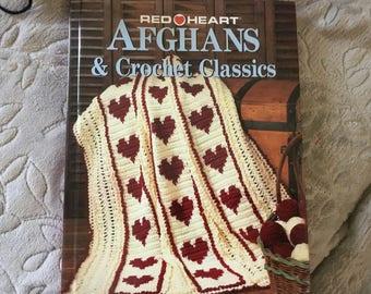 Red Heart Afghans & Crochet Classics.