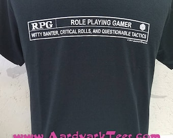 RPG - Role Playing Gamer - Movie Rating Parody Tabletop Gaming Tee
