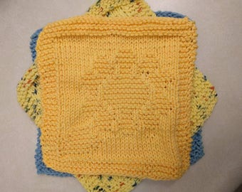 3 for 10! Knitted Wash Cloths
