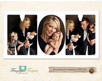 ON SALE 10x20 Storyboard Template Collage Photography Storyboard Photoshop Templates for Photographers - S104