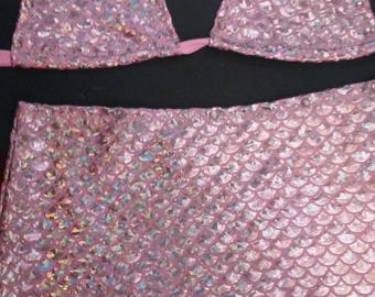 Metallic mermaid  stripperwear  dance wear gogo rave exotic clubwear pole fitness zhumba workout  stripper exotic dancer pole dancewear