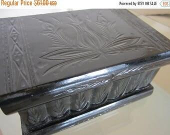 Transylvania's Intelligence Magic Puzzle Wooden Secret Box Compartment Black