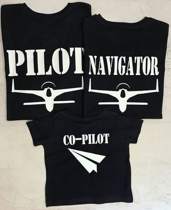 Pilot Navigator and Co-Pilot Silver Metallic Style Aviator Sunglasses on Front Pilot and Co-Pilot with Planes and Paper Airplane on Back