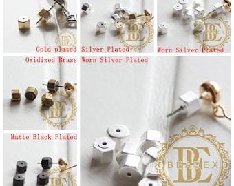 4 Pieces / Brass Base / Earring Backing / Backing / Earring Backs 5*4mm (C3753)