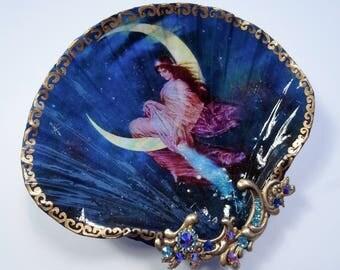 Fairy Jewelry Dish, Shell Dish,  Shell Jewelry Dish, Jewelry Storage, Ring Dish, Trinket Dish