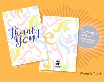 Printable THANK YOU Cards, Instant download Thank You cards, Baby Shower Thank You Card, Wedding Thank You Cards, Appreciation Cards