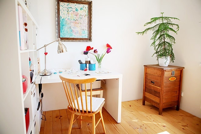 lucia stofej, home studio, antiques, etsy seller