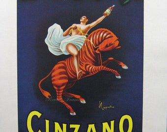 Original Vintage French Ad  Cinzano liquor 1950 Leonetto Cappiello