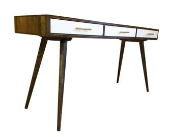 Mid Century Desk with 3 Drawers - MADE TO ORDER 120 days